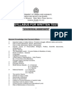 Syllabus of Jkssb Elect