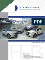 Brochure H y R Rent a Car SAC