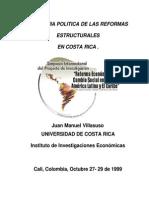 Economía Política de Las Reformas Estructurales en C.R.