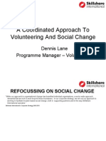 a coordinated approach to volunteering and social change, dennis lane, skillshare international