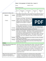 subject-verb agreement irish lesson plan