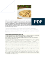Aglio e Olio-Recipes