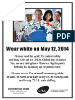 Global nurses united Wear White on May 12
