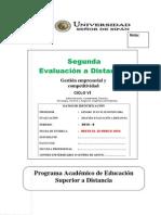 2da Evaluacion a Distancia Gestion Empresarial y Competitividad PEAD 2014 - 0