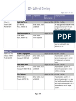 Alaska Lobbyist Directory 4-24-2014