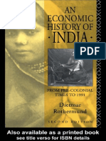 An Economic History of India Diet Rothermund