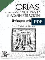 DÁVIA L. de GUEVARA, Carlos, Teorías Organizaciones y Administración - Enfoque Crítico