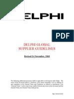 Delphi manual requirements