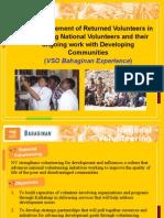 Returned Volunteers Mentoring National Volunteers, Malou Juanito, Vso Bahaginan