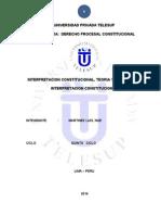A- 5 Monografia Interpretacion Constitucional, Teoria y Criterios de Interpretacion
