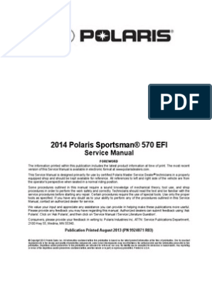 Polaris 570 Sportsman Service Manual   Transmission (Mechanics