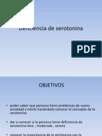 Deficiencia de Serotonina