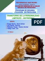 Personalidad Limi8te e Histrionica