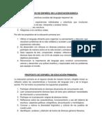 Propositos y Estandares de Español en La Educación Básica
