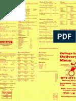 College Inn menu
