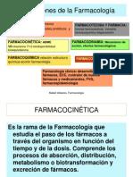 Subdivisiones de La Farmacología