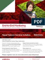 Tektronix Workshop Invite for Nepal Telecom March 13th
