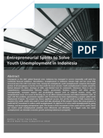 Entrepreneurial Spirits to Solve Youth Unemployment in Indonesia