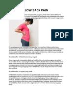 Artikel Low Back Pain