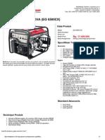 Generator Eg6500cx