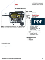 Fpg7800e3 Genset Bensin 5000watt