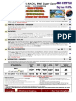 6) 6D4N Shenzen Macau Hongkong Super Saver Extra(XMAS NEW YEAR2010