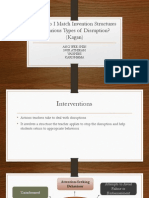 Interventions for various types of disruption