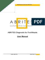 Abrites Diagnostics for Ford Mazda User Manual