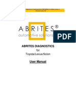 User Manual Abrites Commander for Toyota