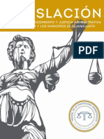 Compilación de La Legislación en Materia de Procedimiento y Justicia Administrativa Para El Estado y Los Municipios de Guanajuato 2013 M