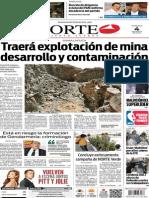 Periódico Norte de Ciudad Juárez edición impresa del 4 mayo del 2014
