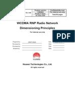 WCDMA RNP Radio Network Dimensioning Principle-20040719-A-1.1