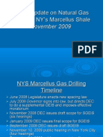 Status Update on Gas Drilling in NYs Marcellus 11 4 09