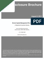 Bronte Capital 2012 SEC Brochure