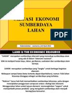 Stela Valuasi Ekonomi Sumberdaya Lahan
