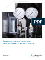 Ped Pressure Equipment Certification by TUV Rheinland