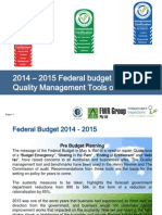 The Federal Budget 2014 2015  Impacts Risks Tools And Changes With Commission Of Audit And Henry Review