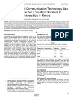 Information and Communication Technology Use Among Teacher Education Students in Universities in Kenya