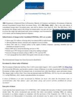 FDI Policy 2013