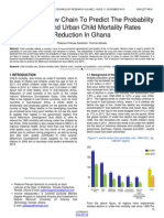 Using Markov Chain to Predict the Probability of Rural and Urban Child Mortality Rates Reduction in Ghana