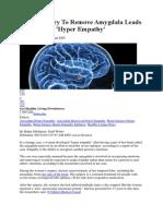 Brain Surgery to Remove Amygdala Leads to Woman