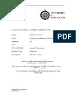 COMP1549 Advanced Programming Exam1213