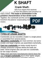 Crankshafts