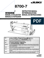 Juki- sewing machine ddl8700-7 Instruction Manual
