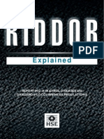 Riddor - Reporting RIDDOR injuries, Diseases and Dangerous Occurrences