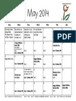 may calendar 2014