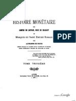 Histoire monétaire des comtes de Louvain, ducs de Brabant et marquis du Saint Empire romain. T. III / par Alphonse de Witte
