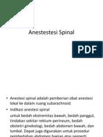 Anestestesi Spinal ppt