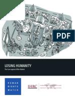 LOSING HUMANITY