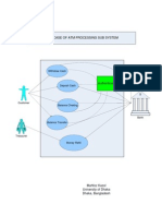 Use Case Diagram for ATM Sub-system
